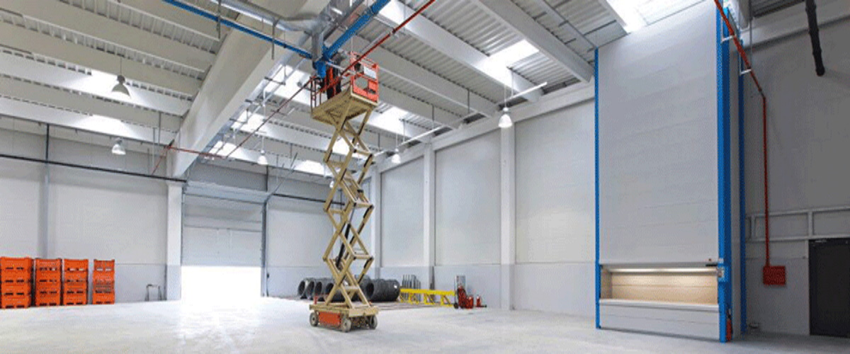 High level building and warehouse cleaning